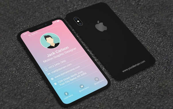 How to make a business card quora iphone x style business card reheart Gallery