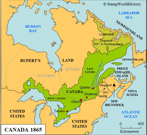 Map Of Canada At Confederation How did the map of Canada change after 1867?   Quora