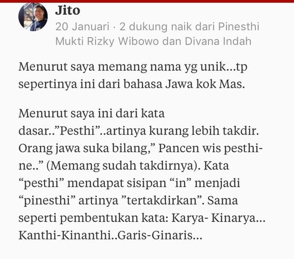 Arti Bahasa Inggrisnya Naik: Apakah Kata 'Pinesti' Dalam Bahasa Jawa Artinya Adalah