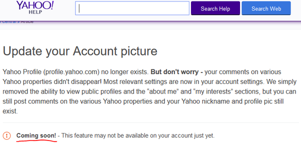 yahoo search How profiles to