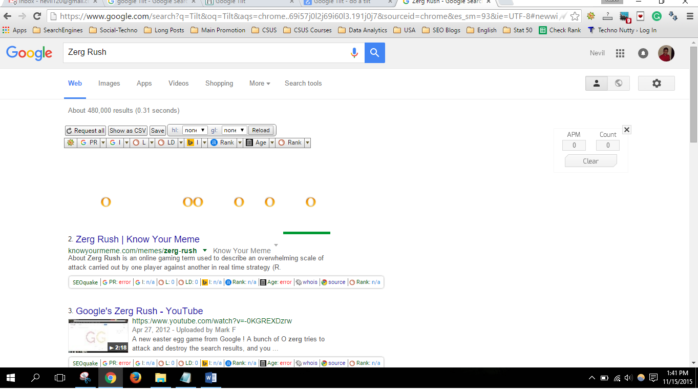 Do a barrel roll 100 times. a Barrel on Google, and You