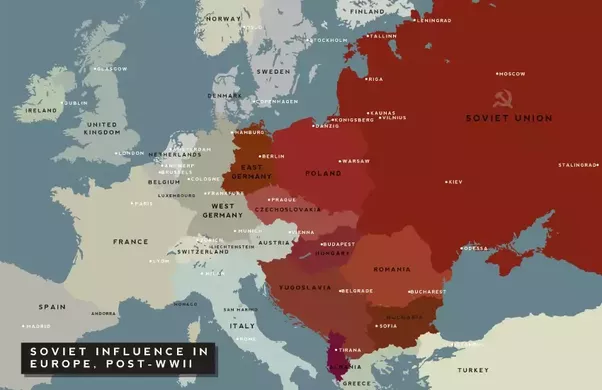 What happened to the nations of eastern europe after world war ii this is eastern europe post wwii as you can see every country in eastern europe has been conquered and a puppet government set up by the ussr gumiabroncs Choice Image