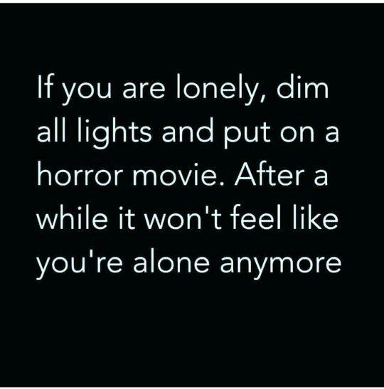I feel very alone