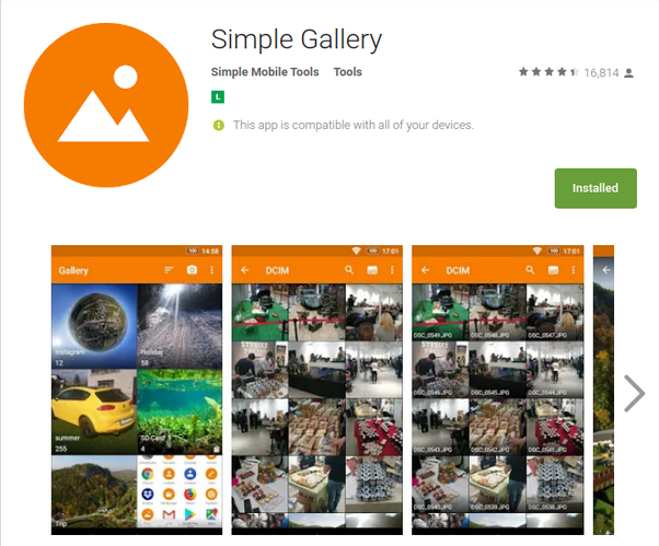 The Photo Gallery app is not present on my Moto G5 Plus  Do