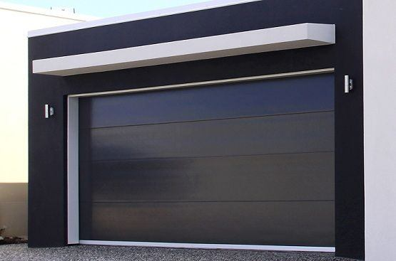 I Say That Because An All Black Garage Door Canu0027t Be Pulled Off By Just Any  Old Exterior, But It Looks Awesome In This Case.
