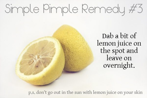 How to dry up a pimple overnight