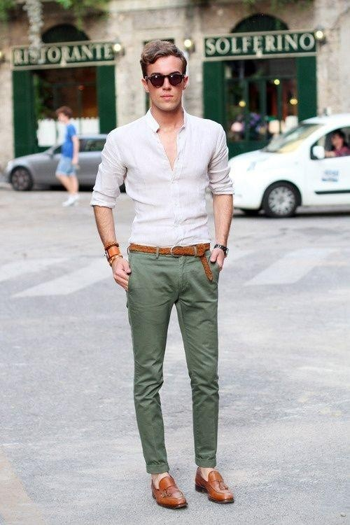 colors to wear with green pants