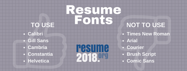 Which is the font used by most IITians in their resumes? - Quora