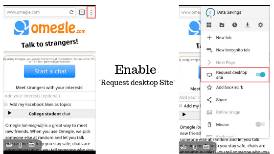 How to use Omegle Video on Android - Quora