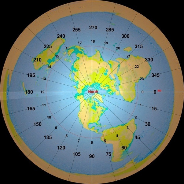 If the earth was flat would a flight from new york to london be if you assume this map as your map of a flat earth a jfk lhr flight would be very close to being the same compare these two ignoring normal north atlantic gumiabroncs Gallery