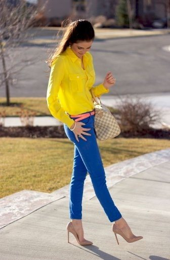 Which color pants suit a yellow shirt? - Quora