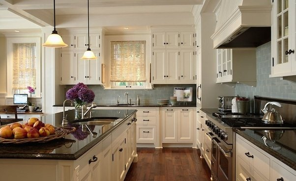 3. Something in between. If you are going to live in the house for a long long time choose granite or quartz counters and/or backsplash with your favorite ... & What countertops floors and backsplashes complement white cabinets ...