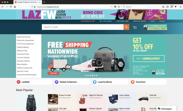 Which are the most popular and genuine online shopping website in