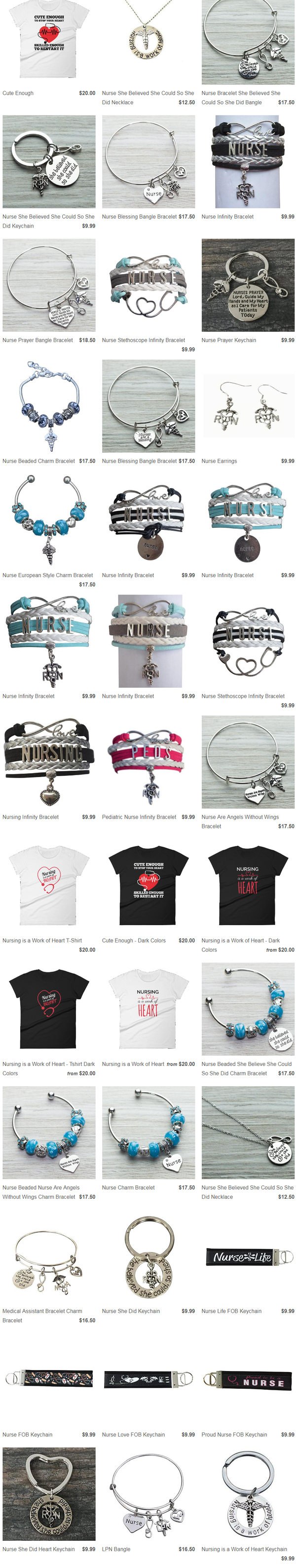 work of heart offers you all types of inspirational jewelry and accessories on affordable price check out our latest trends of inspirational nurse jewelry