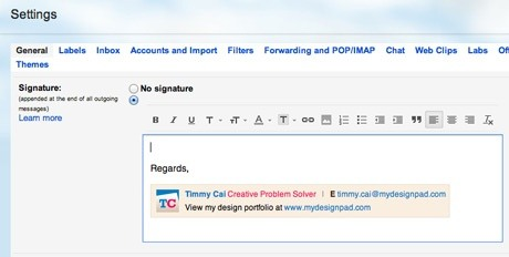 how to add signature in gmail on ipad