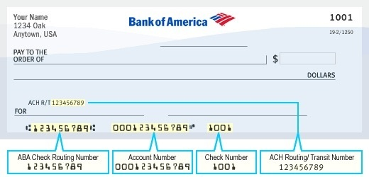What Is My Bank Account Number In Bank Of America Quora