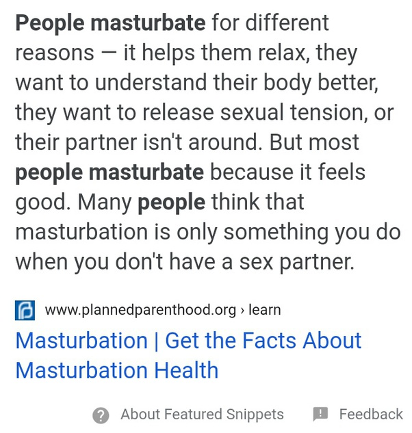 Masterbate should why you How Often