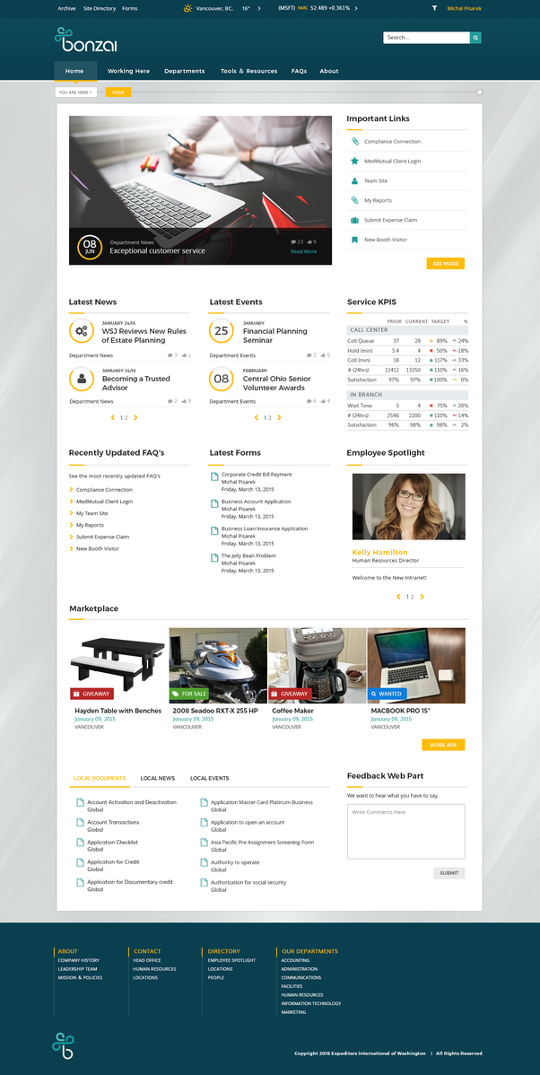 intranet portal design templates - what is the best intranet solution for sharepoint quora