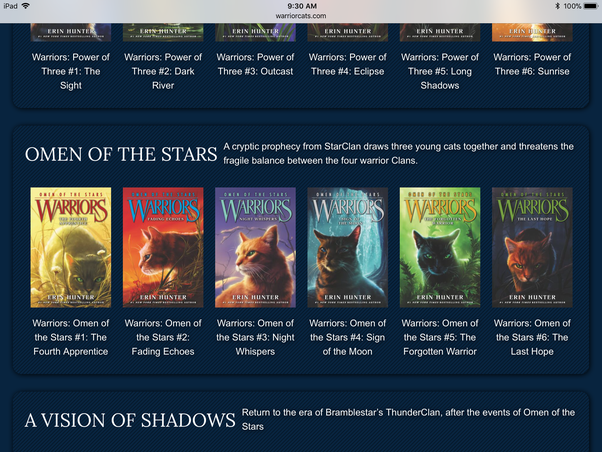 what books spoil the warrior cats series i m new to the books so i