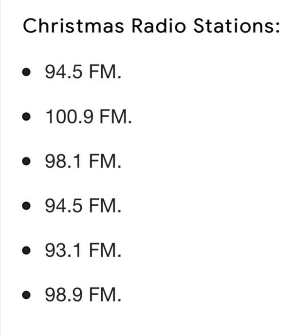 hear Christmas songs in November