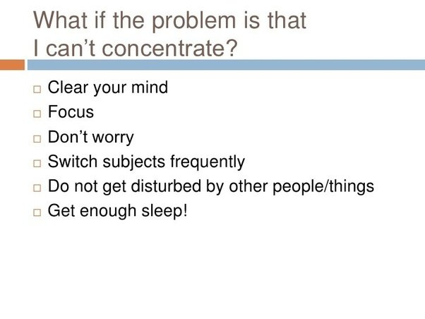how to concentrate mind pdf