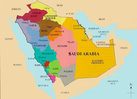 What can india do to help alleviate the iran saudi arabia conflict look at the eastern province of saudi arabia it is coloured in yellowish orange it is near to iran and iraq and borders bahrain gumiabroncs Image collections