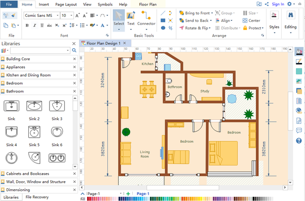 Quick floor plan maker gurus floor for Store floor plan maker