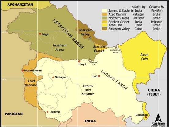 Actual Map Of India.What Is The Correct Map Of Jammu Kashmir Of India Quora