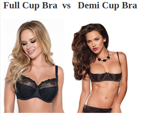 aab0d9ae2ca08 They can be broadly classified into Full Cupped and Demi Cupped (also known  as Shelf Bra or Half Bra).