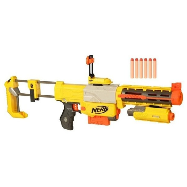 However,to answer your question OP,the closet thing nerf has to a bolt- action is the Recon CS6.
