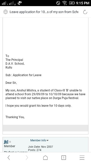 How to write an absent excuse letter for school quora in this method you can write a leave application just mention the exact reason why you want to take leavethe exact no of days and the exact reason for thecheapjerseys Images