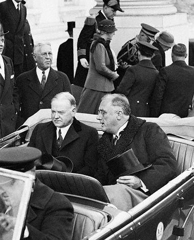Hoover -Conservative Roosevelt-Liberal