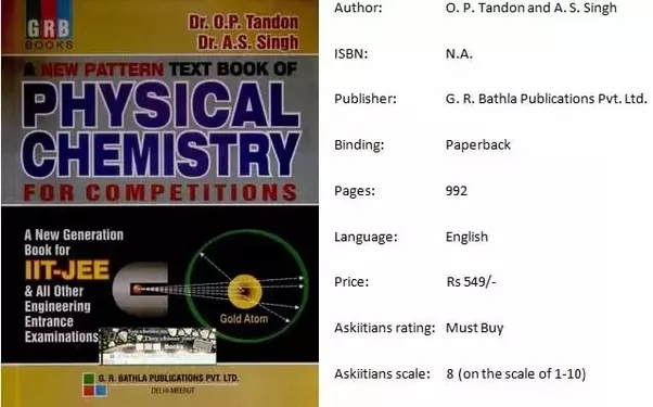 Which is the best book for physical chemistry for the iit jee quora physical chemistry by p bahadur is a good book for jee preparation because it has lots of solved and unsolved numerical problems fandeluxe Images
