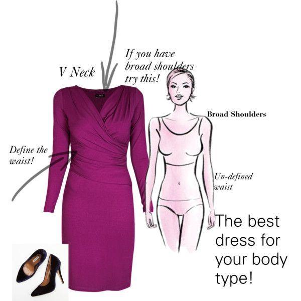 Refashion dress neckline for broad