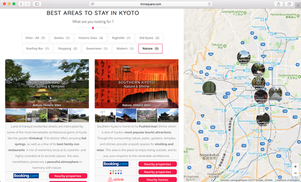 What are the best Kyoto neighborhoods for tourists to stay in Quora