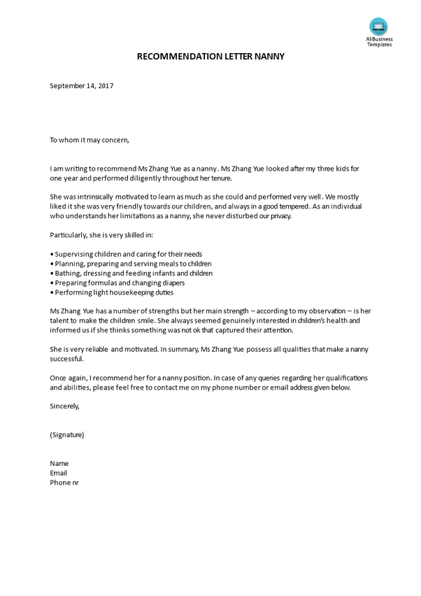how to write a good letter of recommendation