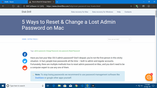 how to reset administrator password mac os x