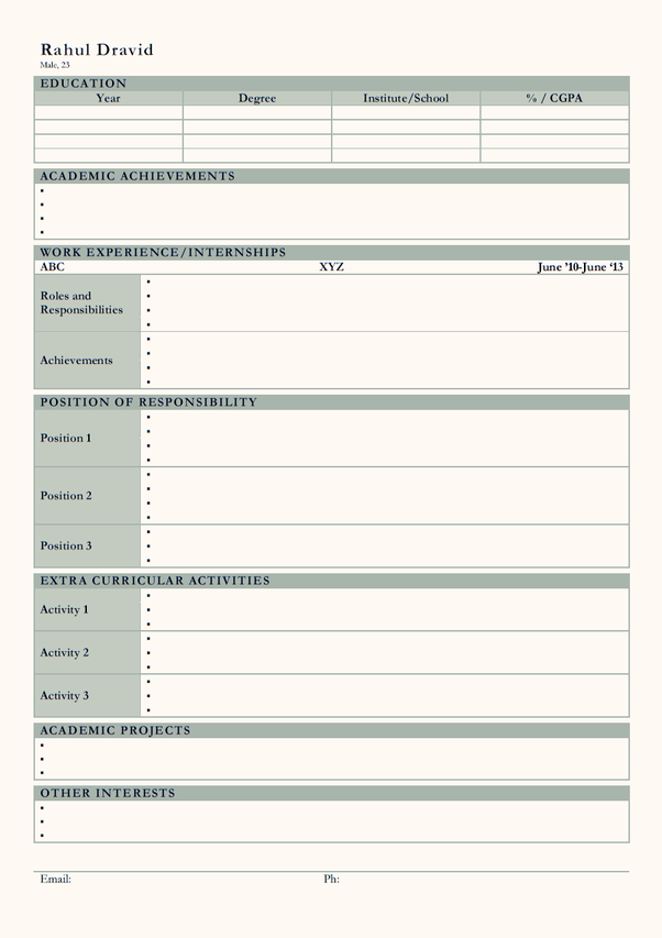 How About This   Resume Template For Fresher   Careerbaba.in ?  The Best Resume Format