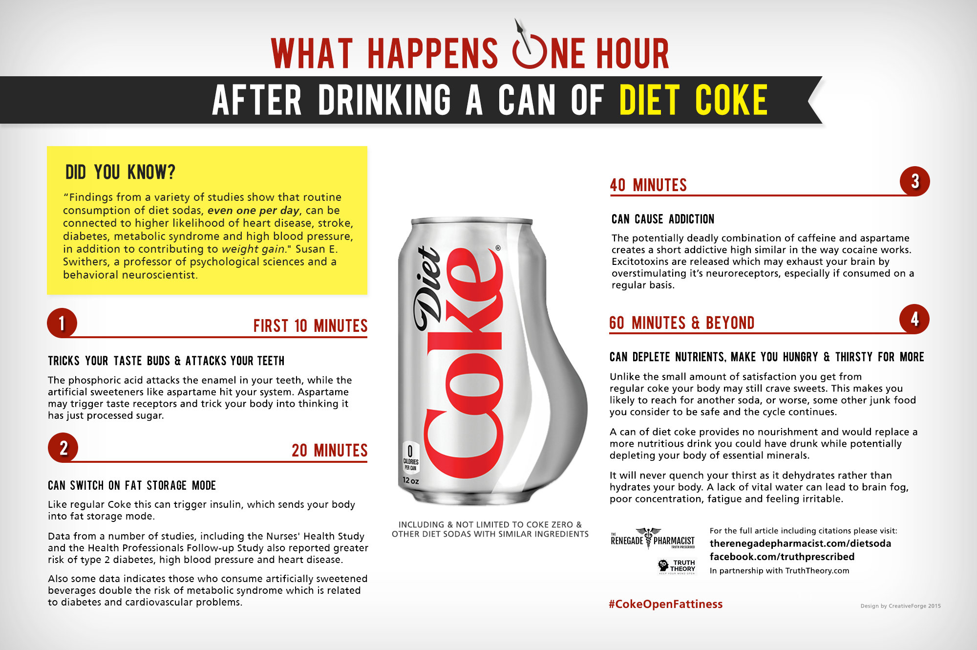 is diet coke worse than coke
