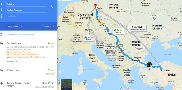 it takes about 25 30 hours to go from ankara capital of turkey to berlin capital of germany by car you have to pass 67 countries to arrive