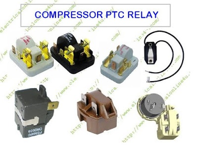 What is the purpose of a PTC relay with a capacitor in a