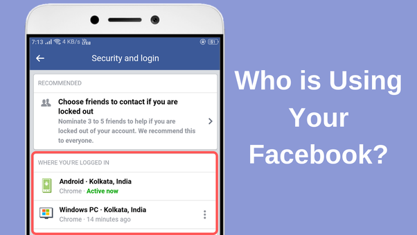 How to know if someone logged into my Facebook account - Quora