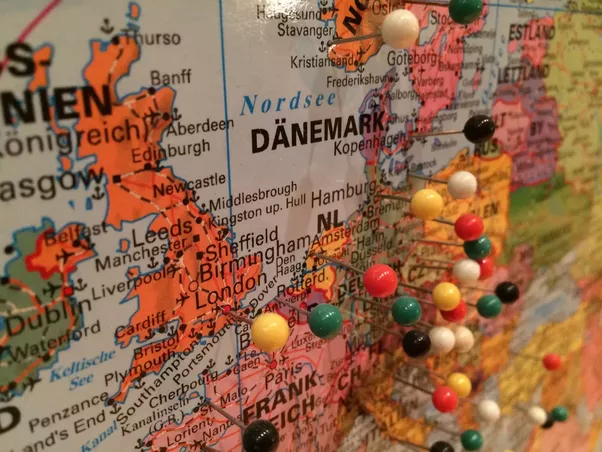 Do you keep track of countries youve visited how quora double sided tape on the board to stick the map to it i think it looks really cute and its great fun to put pins in all the places youve been to gumiabroncs Choice Image