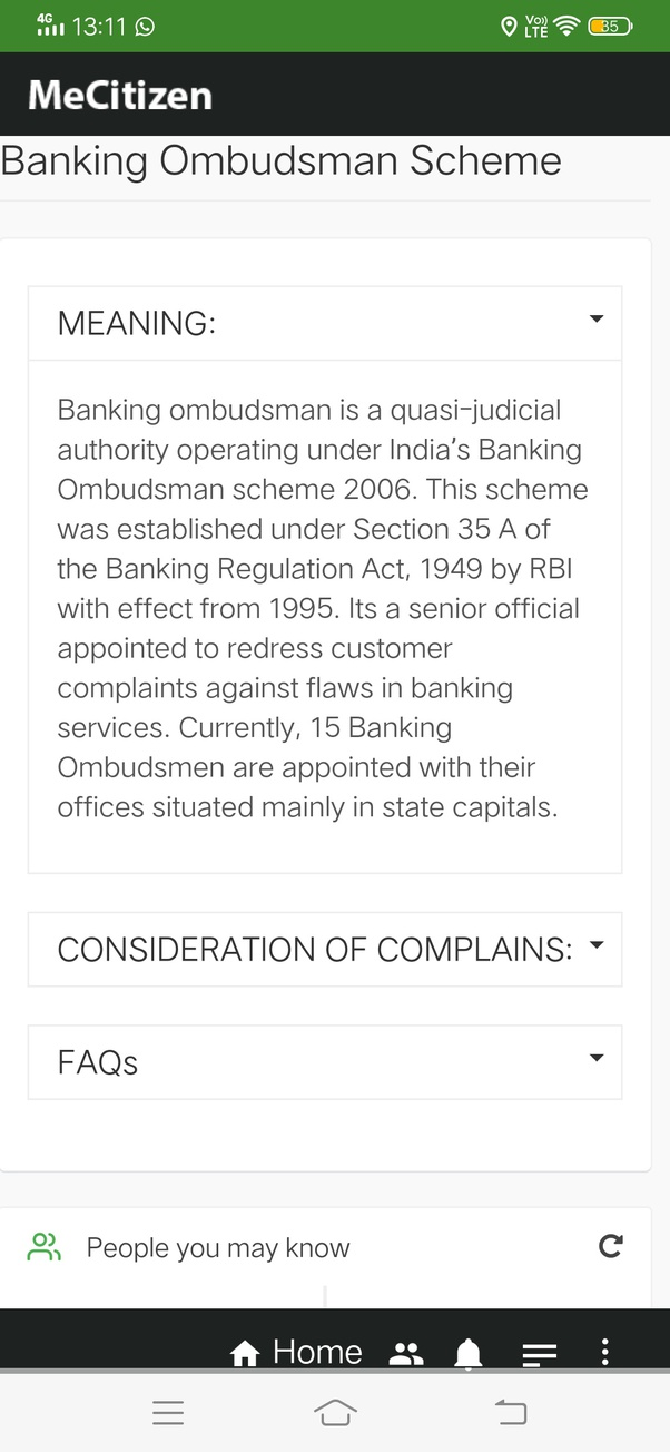 Banking ombudsman complaint india