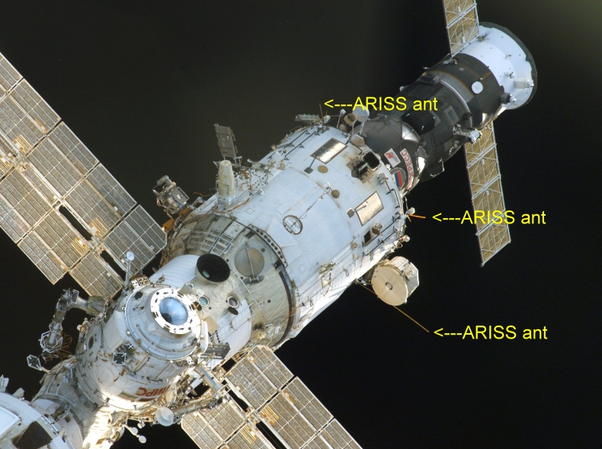 Where is HAM radio antenna on ISS? Can I get some images of HAM