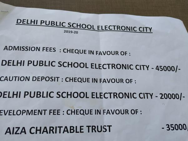 What is the monthly fee of Delhi Public School? - Quora
