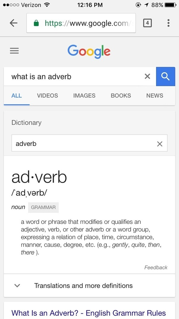 What Is An Adverb Quora