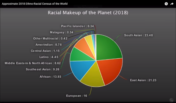 World Population By Race >> What Are All The Races And Their World Population Demographics The