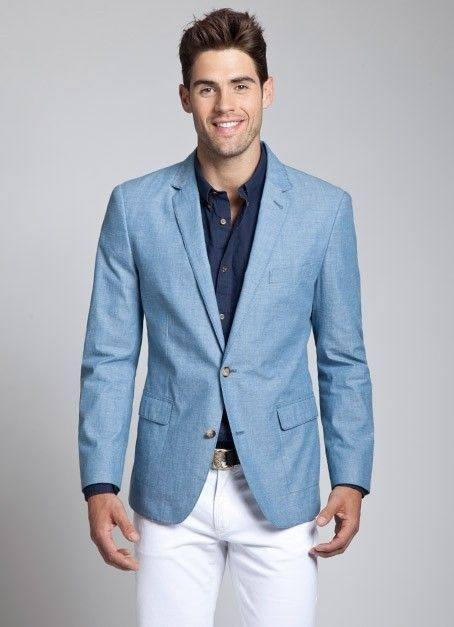 What color shirt will match a light blue blazer? - Quora