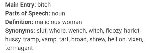 This Is A Selection Of Words That Are Synonyms To The Word Bitch With Meaning Malicious Woman Which You Could Also Use Describe Yourself